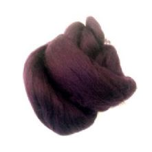 50g Pack of Chocolate Brown 23 Micron Merino Wool Tops